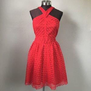 Moda International Red Halter Skater Dress 10